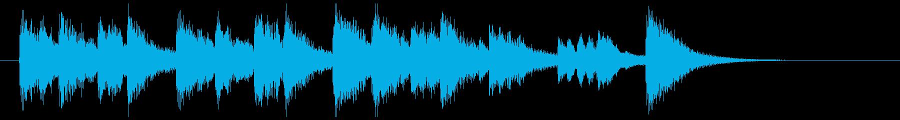 プロローグ マリンバ風メロディの再生済みの波形