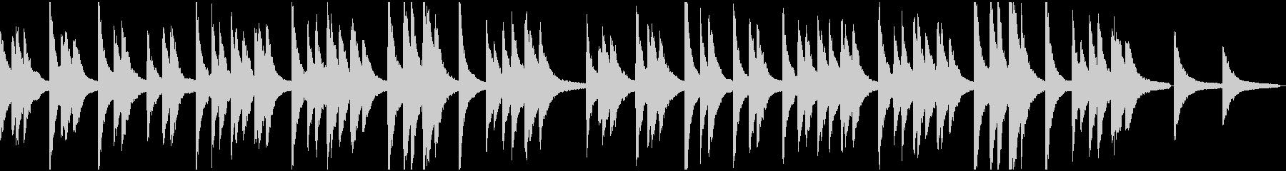 きよしこの夜(アーメン付)ピアノ版の未再生の波形