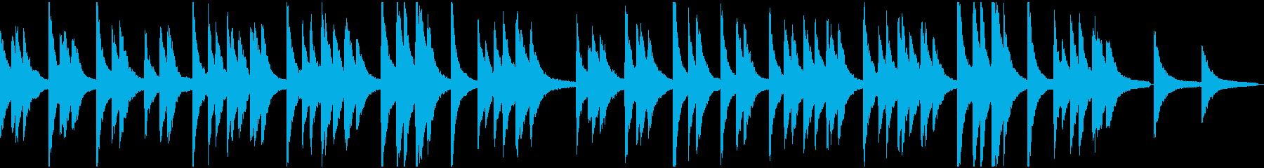 きよしこの夜(アーメン付)ピアノ版の再生済みの波形