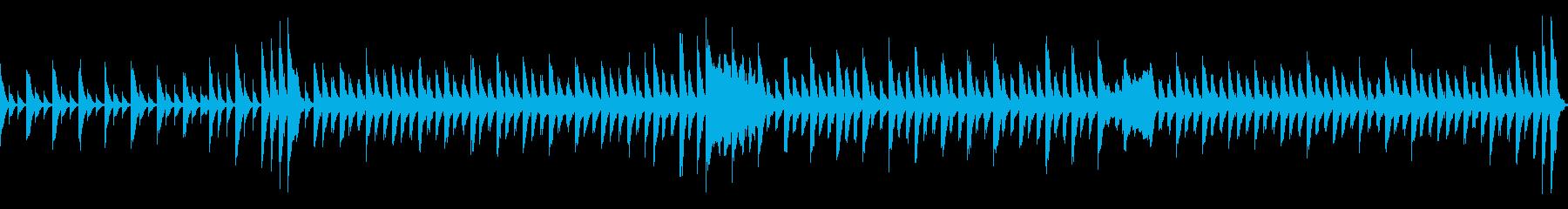 子供、ペット、クリスマス系BGM60秒の再生済みの波形
