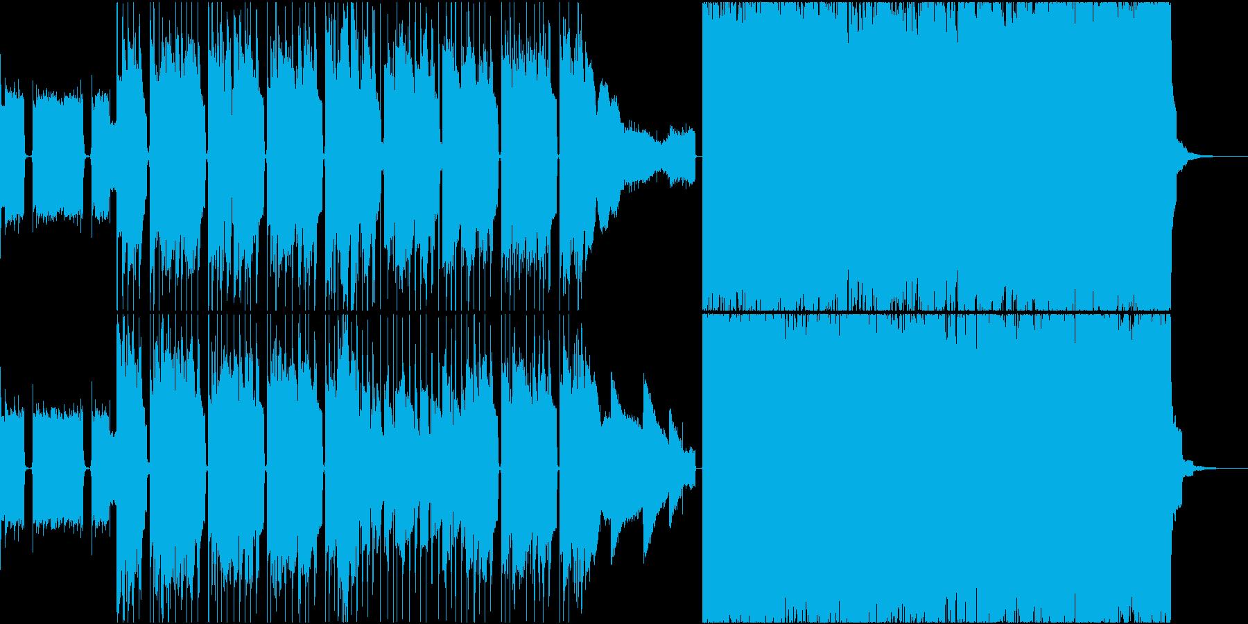 変わったノリを演出したロックバンド曲の再生済みの波形