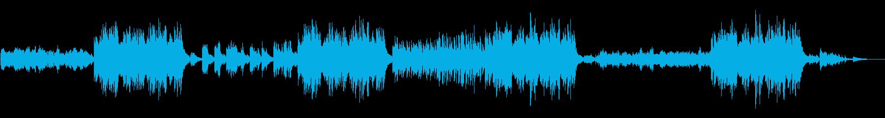 爽やかなピアノ連弾曲の再生済みの波形