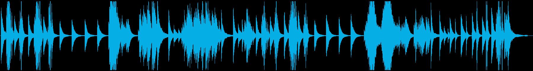 ちょっと切ないピアノソロの再生済みの波形