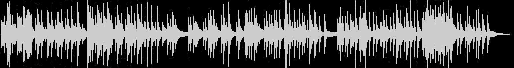切ないピアノソロのバラードの未再生の波形
