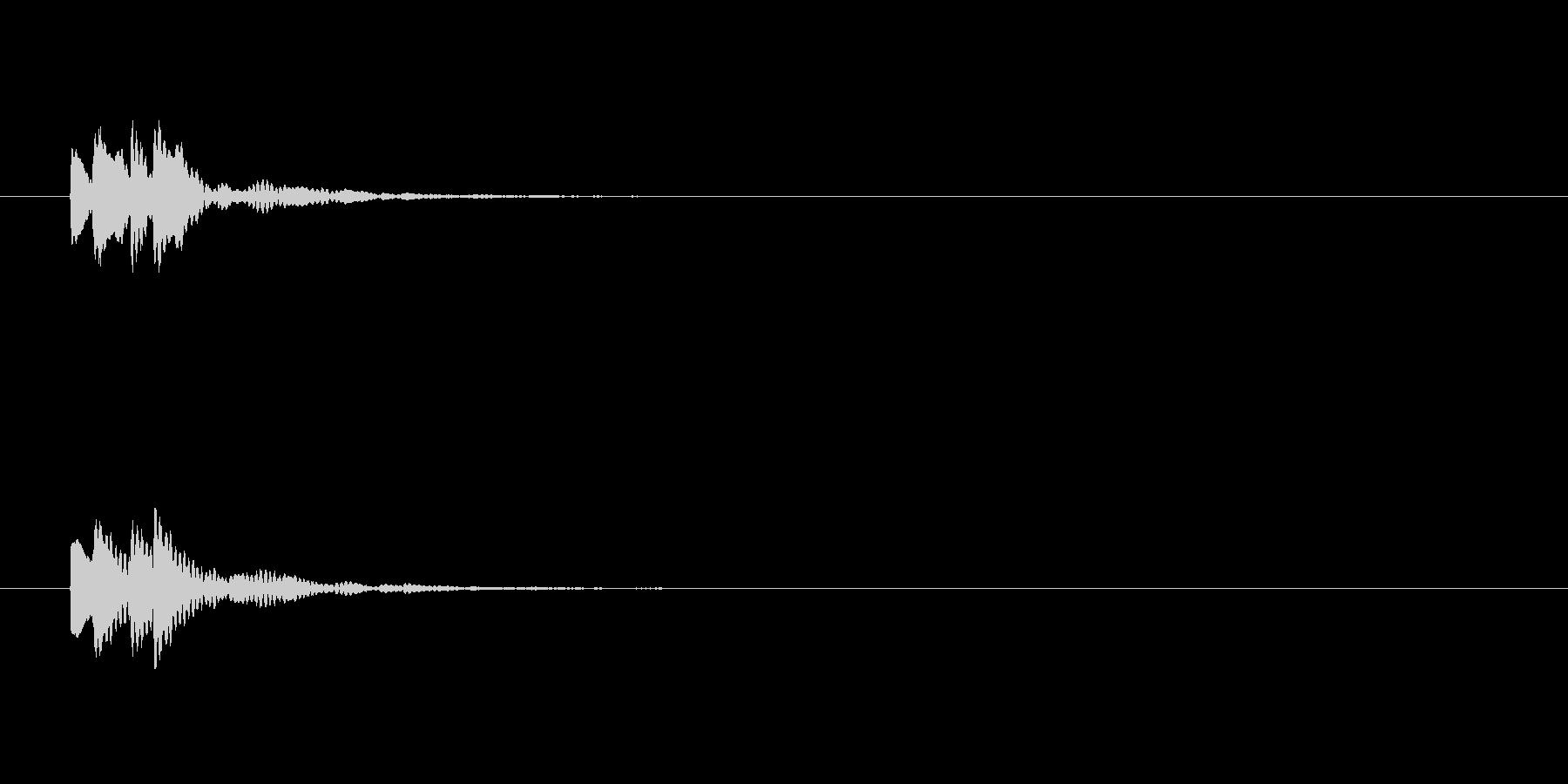 エラーなどのポップアップ時の音の未再生の波形