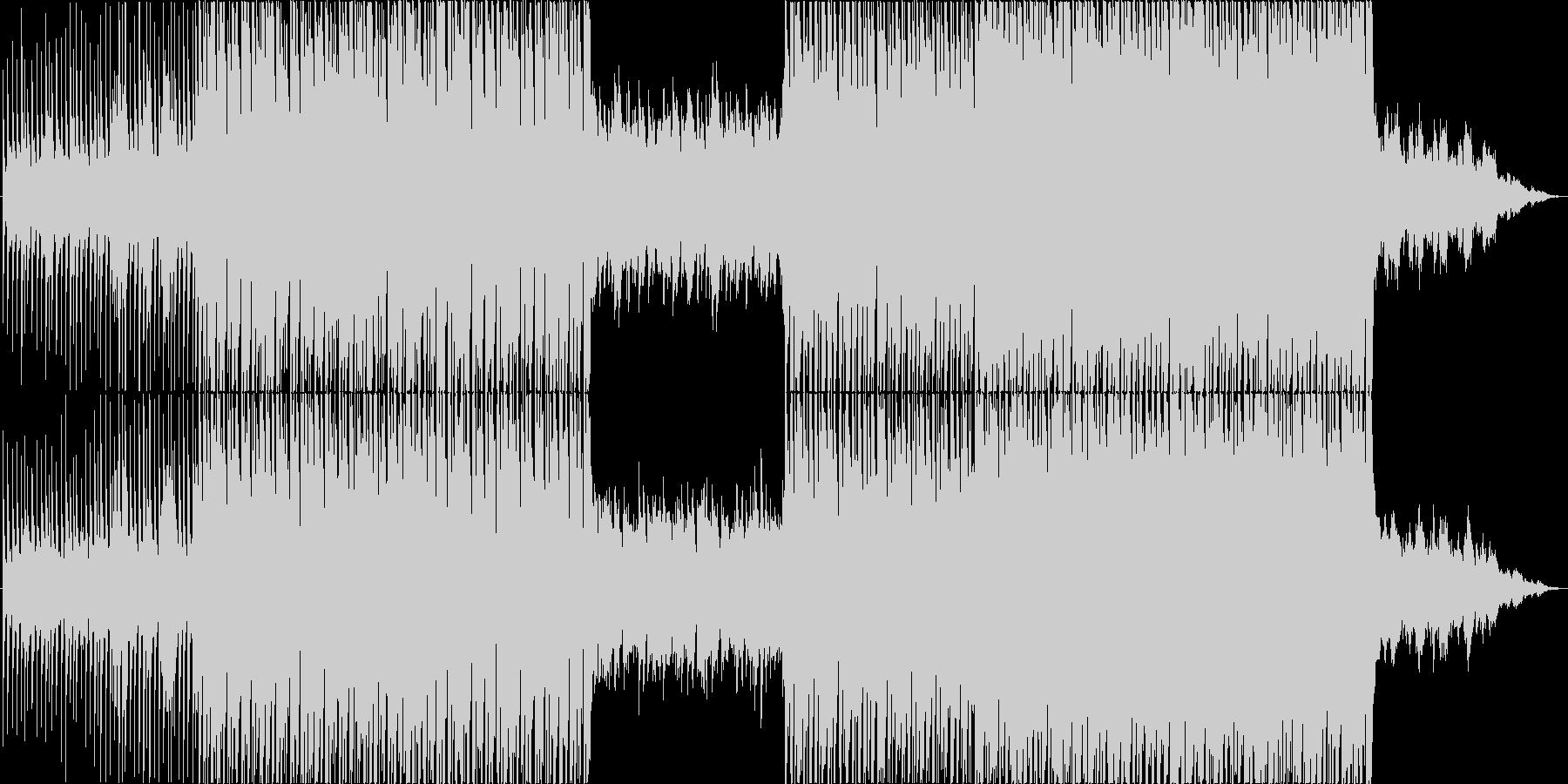 【BGM】 爽やかなハウスミュージックの未再生の波形