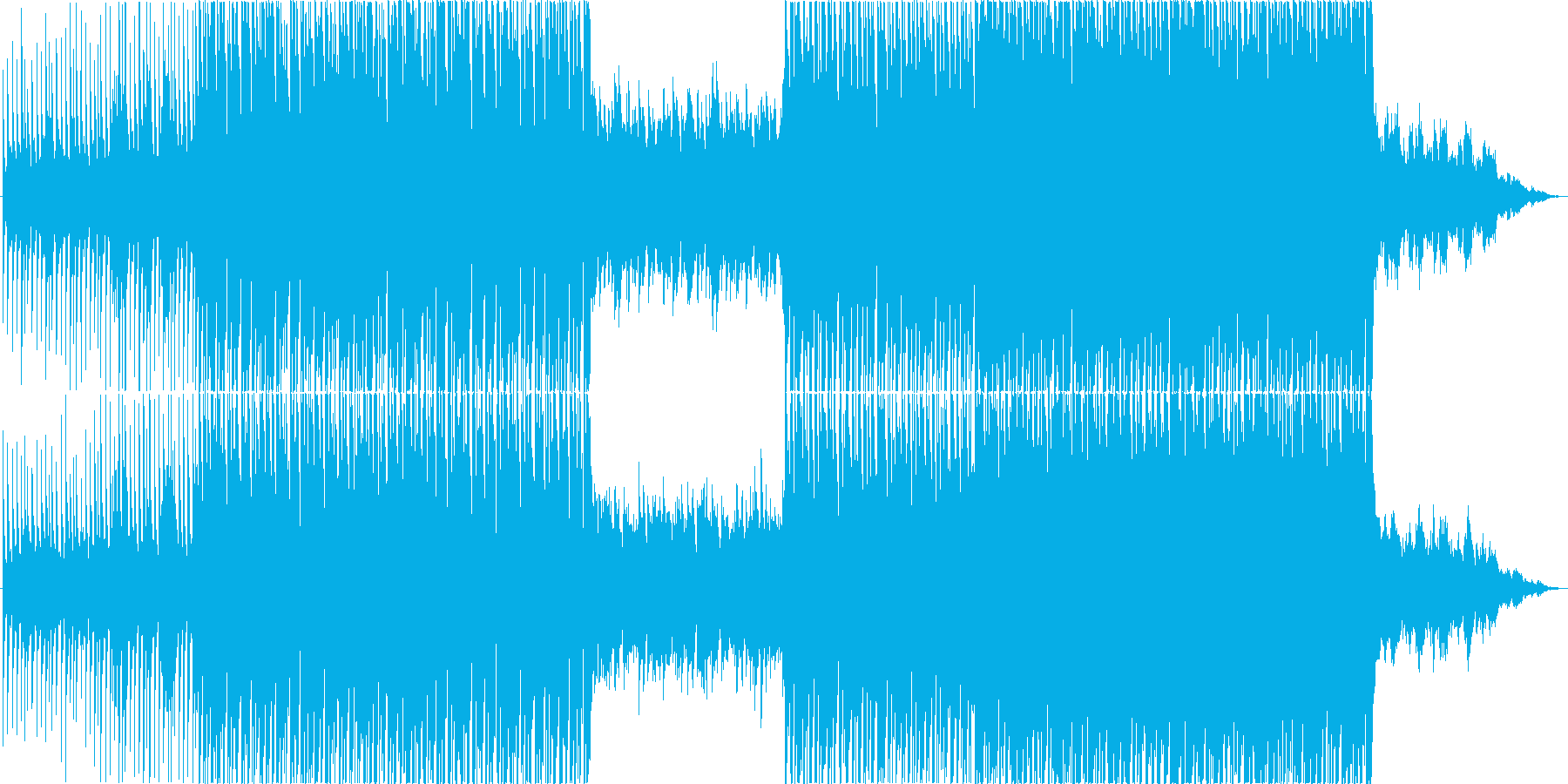 【BGM】 爽やかなハウスミュージックの再生済みの波形