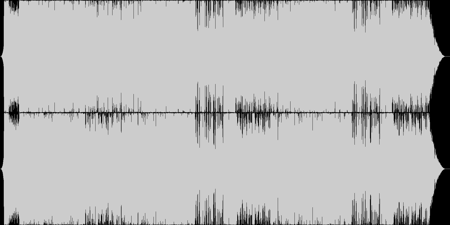 ギターとストリングスの王道バトル曲の未再生の波形