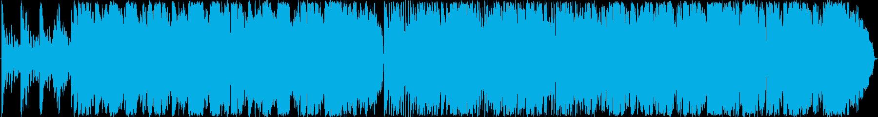 ゆったりした和風楽曲の再生済みの波形