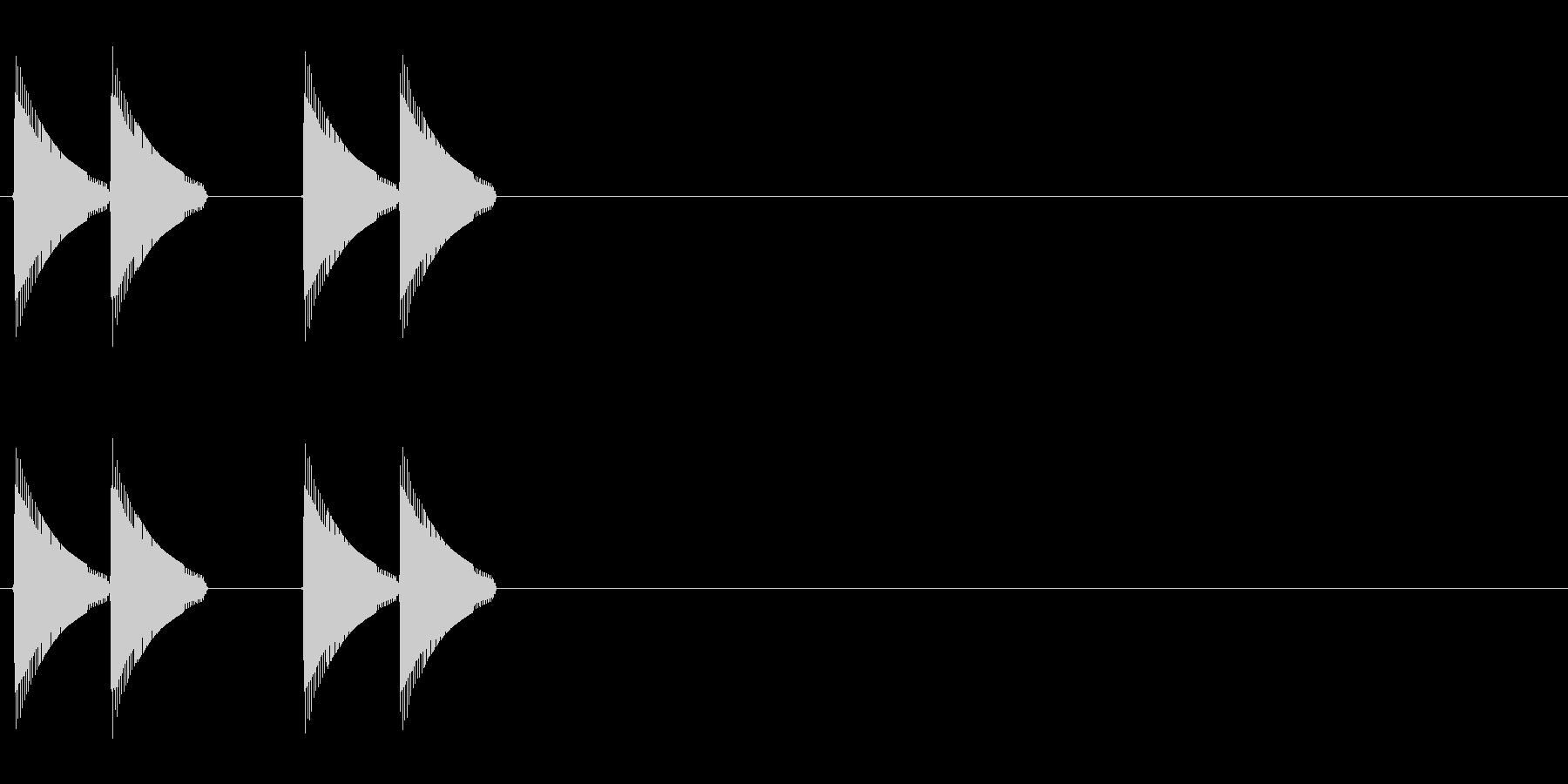 ビビッビビッの未再生の波形