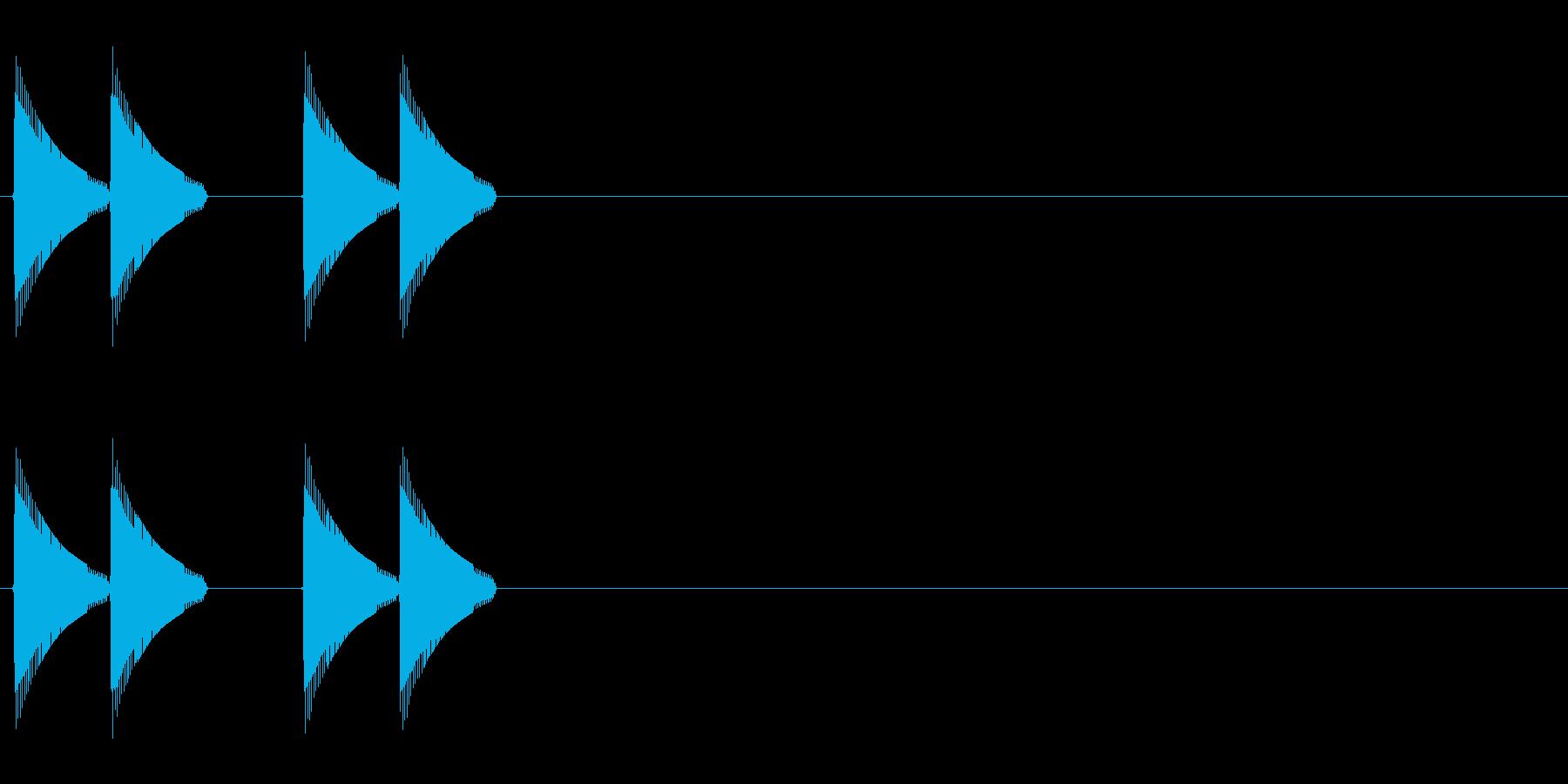 ビビッビビッの再生済みの波形