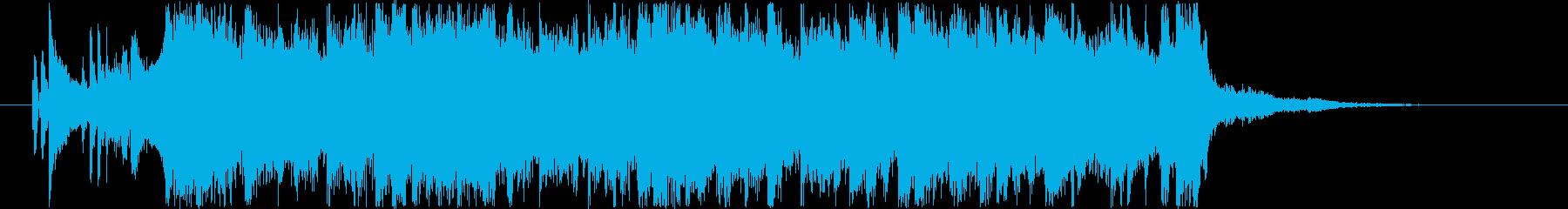 爽やかなロック風ジングル CMの再生済みの波形