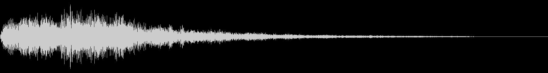 明るいテロップ音 ボタン音 決定音18bの未再生の波形