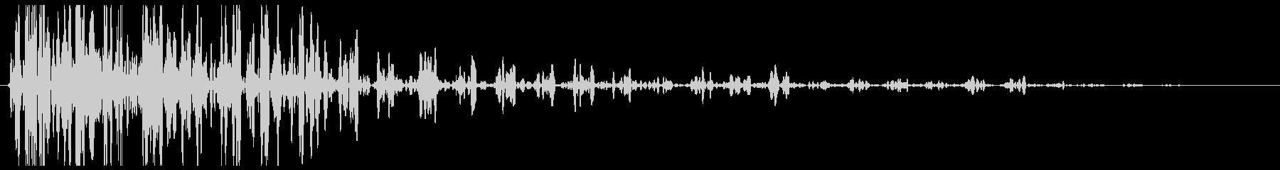 ドカン(爆発系の音)の未再生の波形