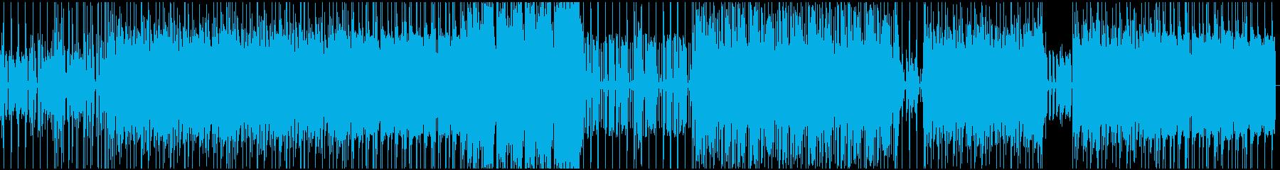 オシャレでさわやかなギターロックの再生済みの波形