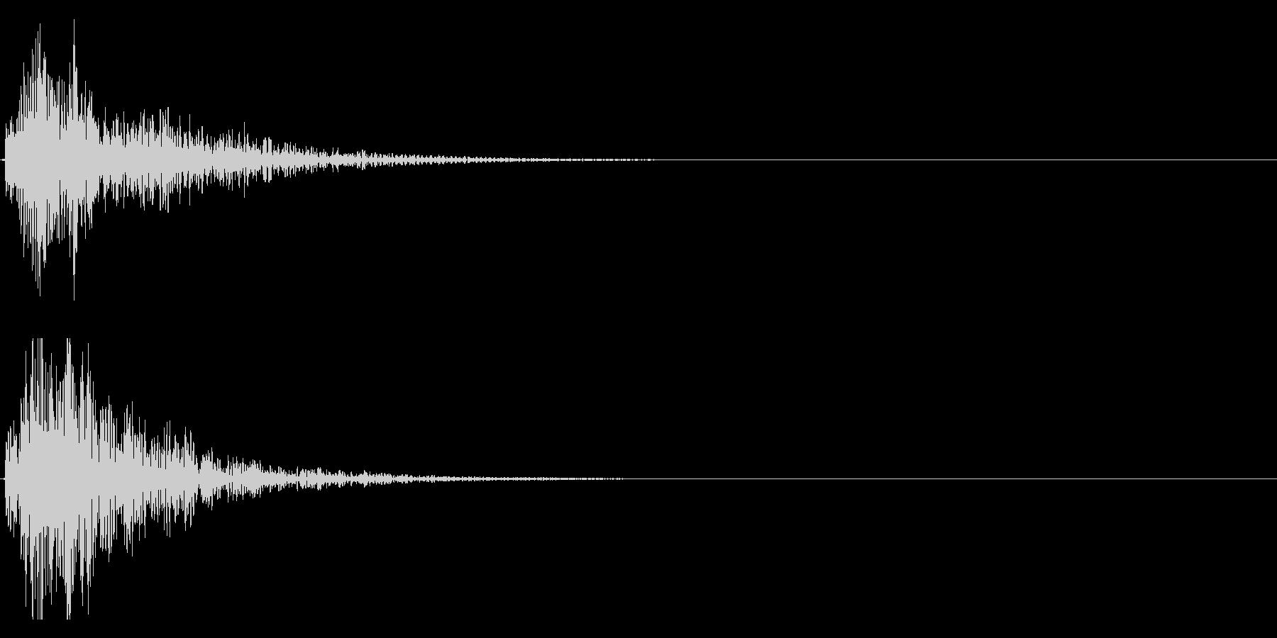 ドドン!(迫力ある太鼓と和太鼓の音)11の未再生の波形