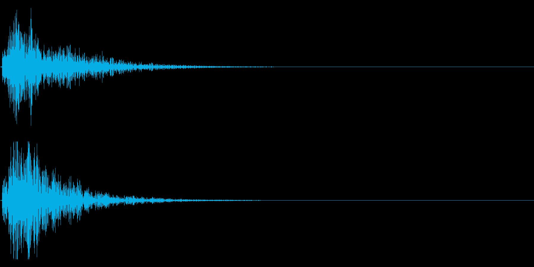 ドドン!(迫力ある太鼓と和太鼓の音)11の再生済みの波形