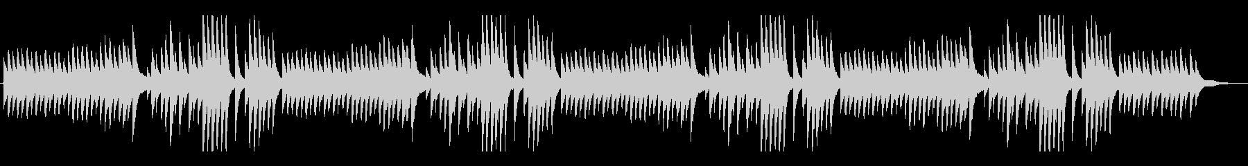 「この道」シンプルなジャズピアノアレンジの未再生の波形