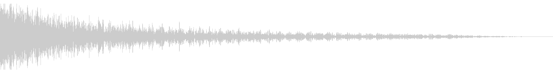 巨大なメタルドラムインパクトヒットの未再生の波形