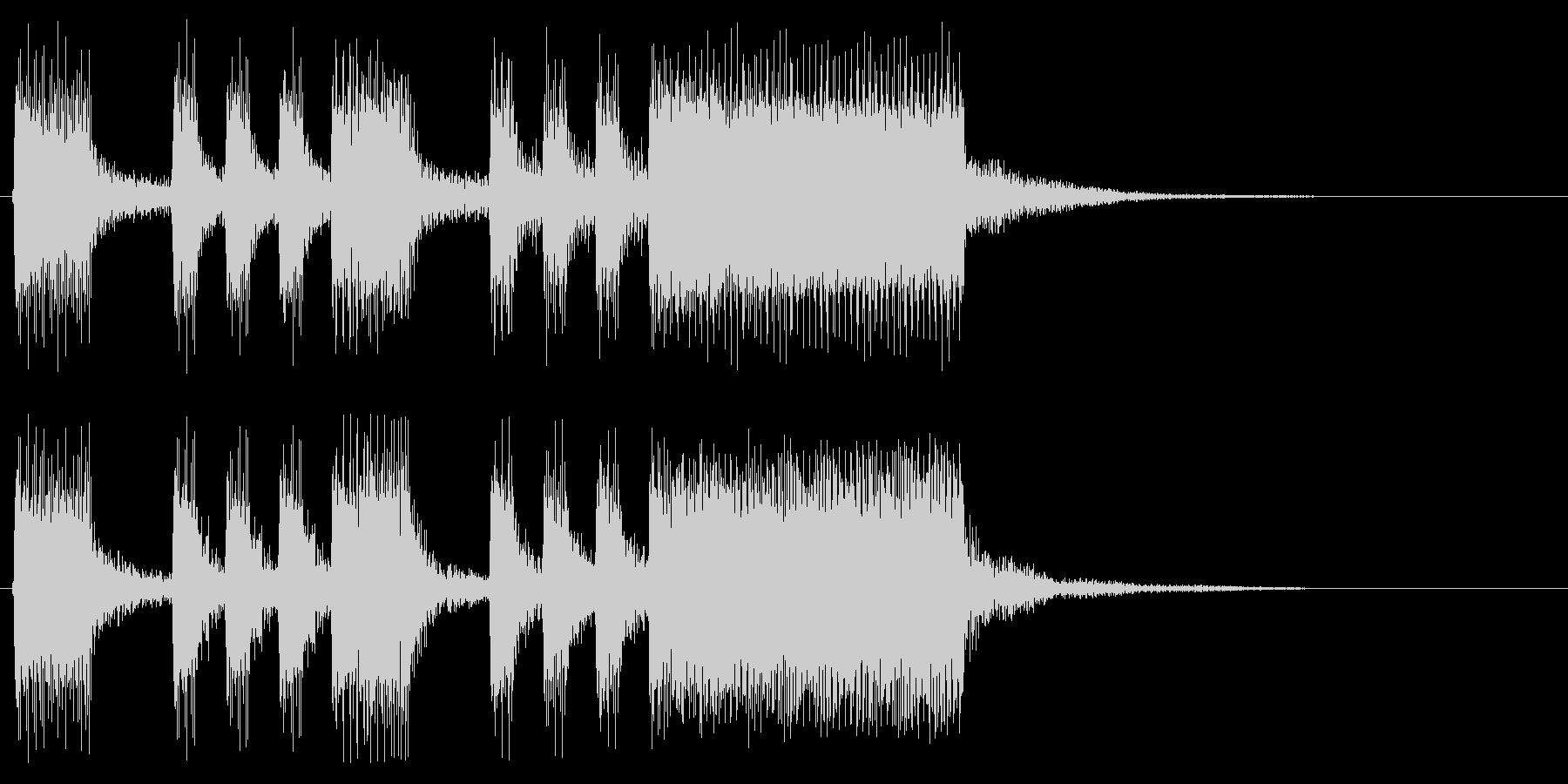 8bit風ゲームクリア ファンファーレの未再生の波形