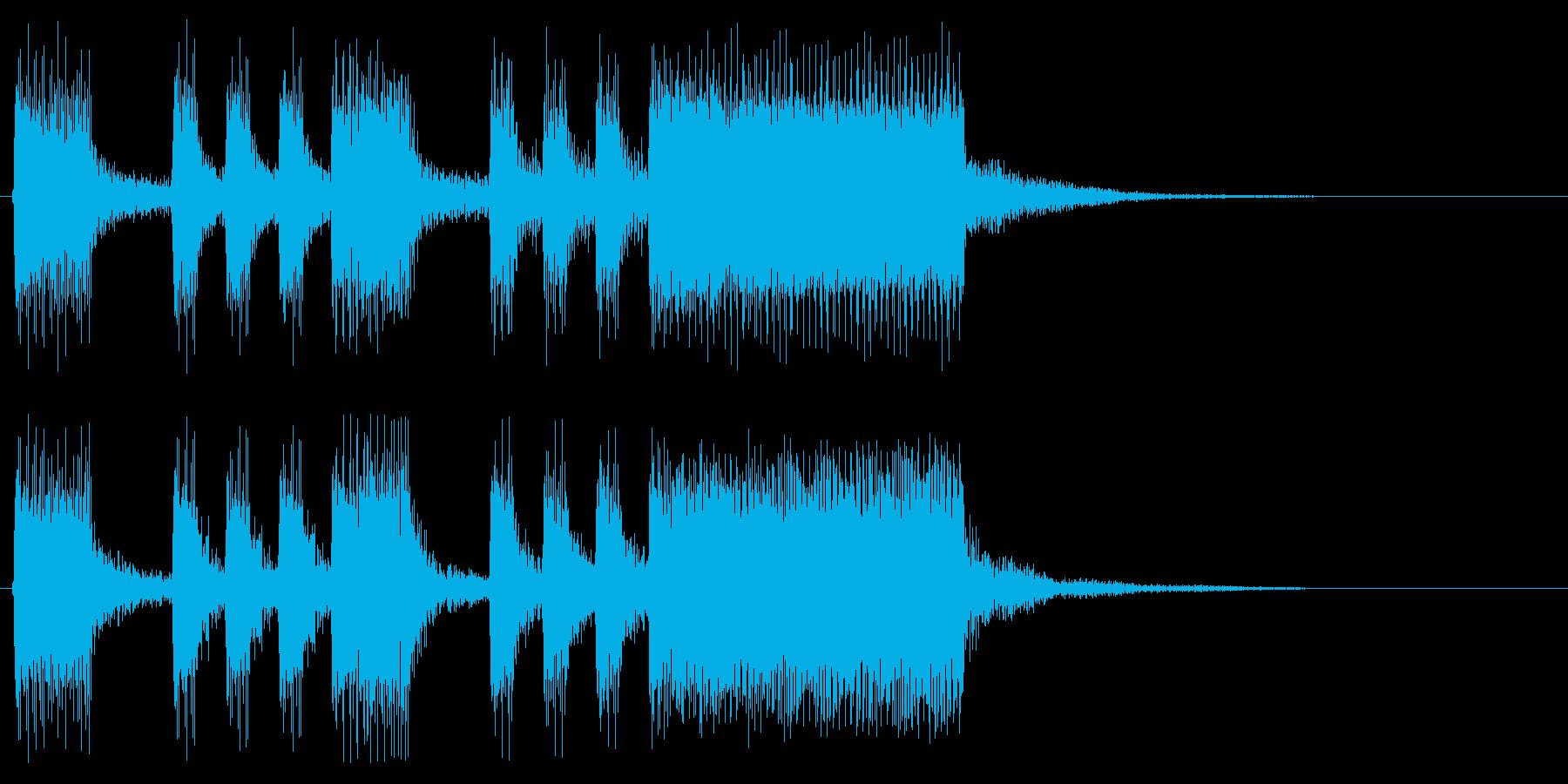 8bit風ゲームクリア ファンファーレの再生済みの波形