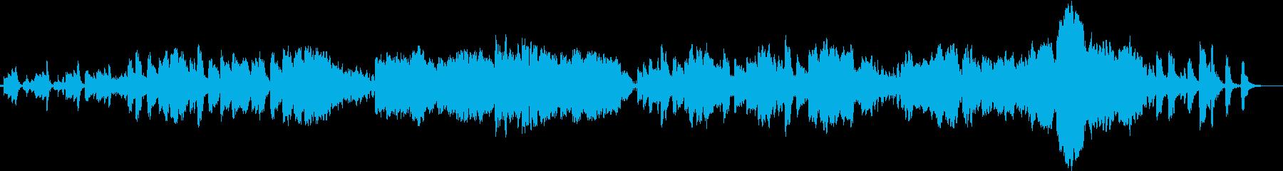 楽しげなクラリネットメインの小編成曲の再生済みの波形