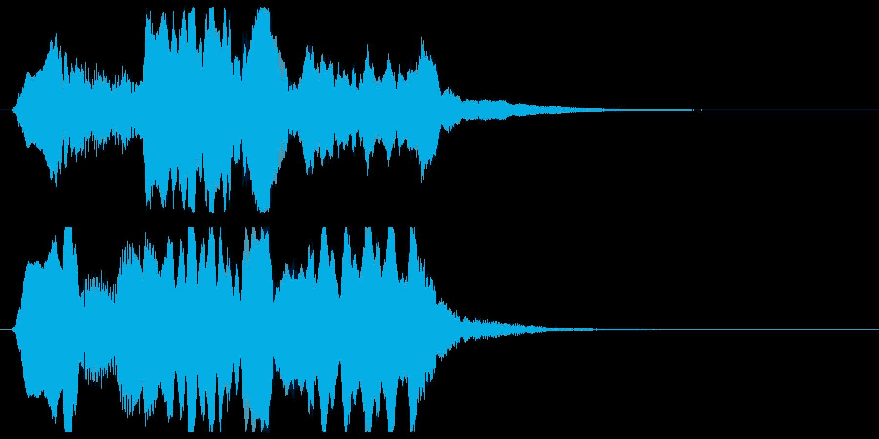 ゆったりしたフルートとハープのジングルの再生済みの波形