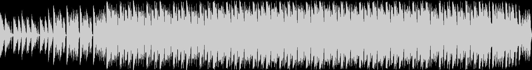 ピアノによる明るくポップなループ曲の未再生の波形