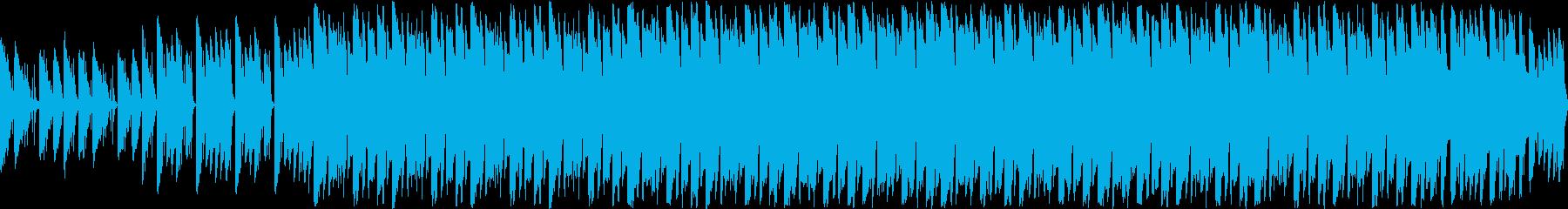 ピアノによる明るくポップなループ曲の再生済みの波形