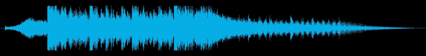 重厚でハードなデジタル、ダブステップロゴの再生済みの波形