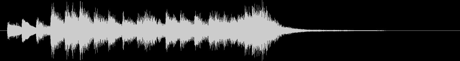 ピアノロゴ 繊細 レトロ機械 不思議の未再生の波形