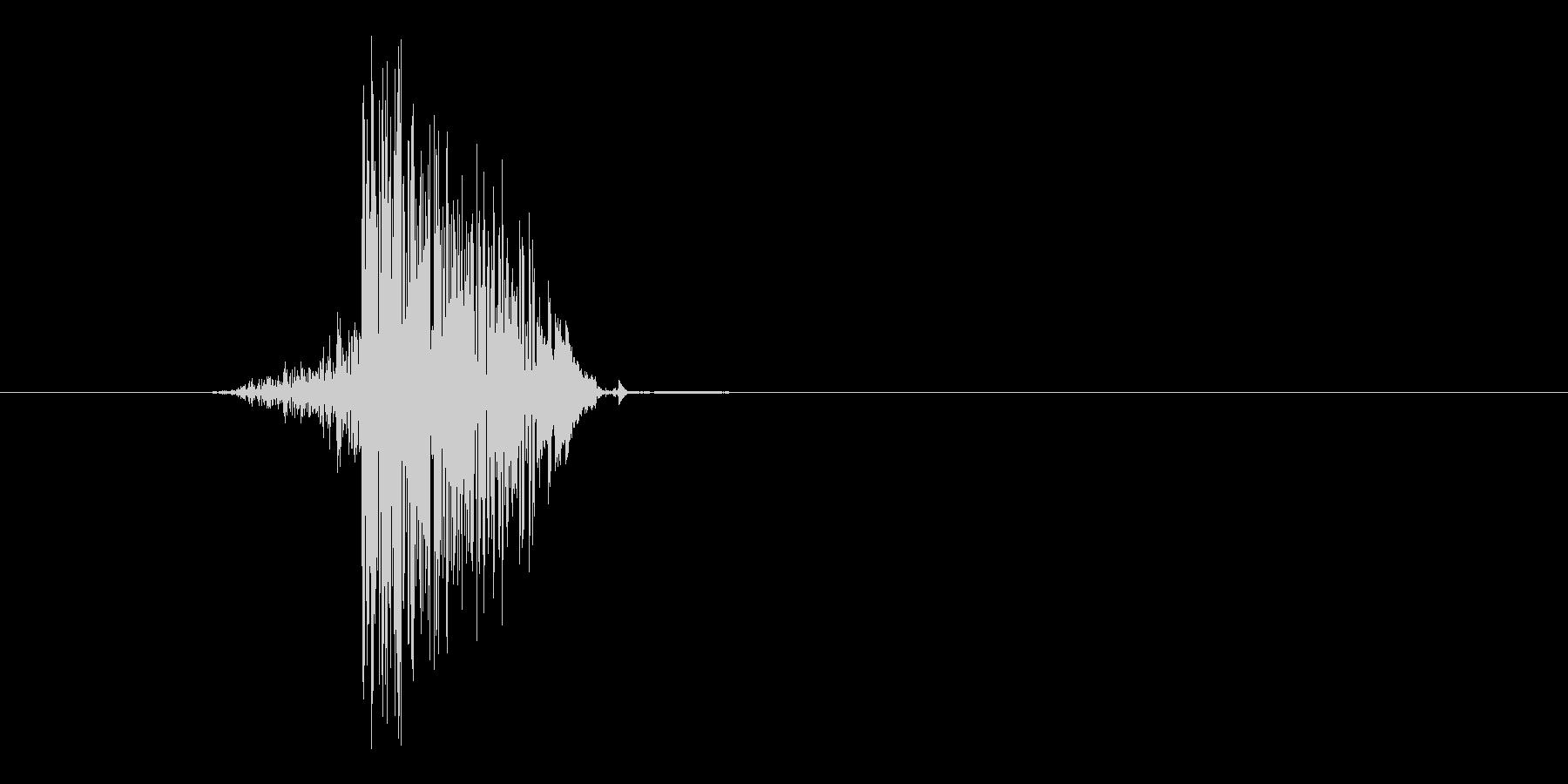 ゲーム(ファミコン風)ヒット音_014の未再生の波形