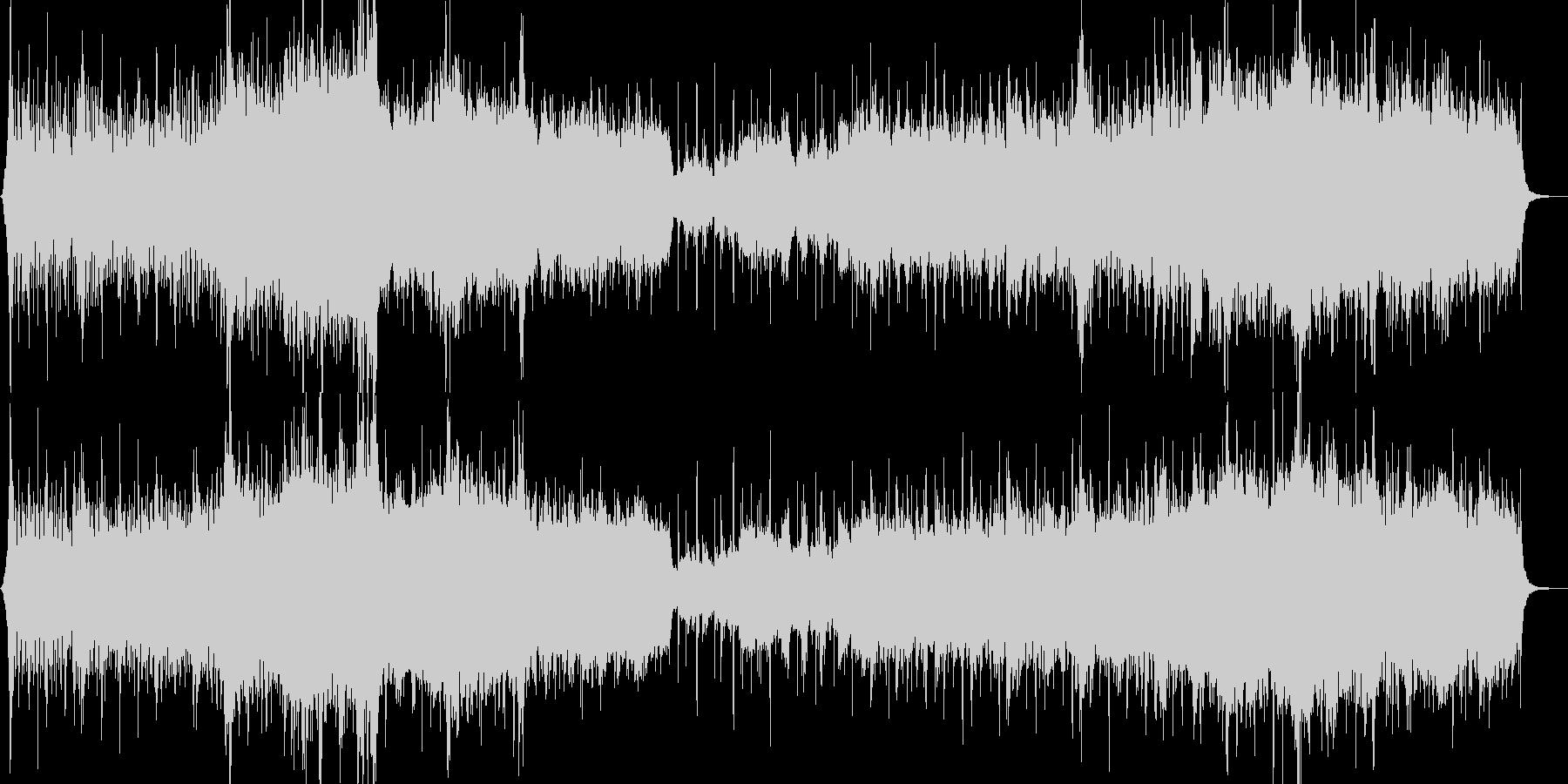 水の印象をイメージ化したヒーリング音楽の未再生の波形