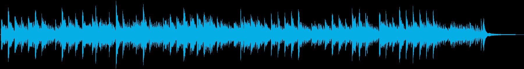 眠りを誘うピアノインストの再生済みの波形