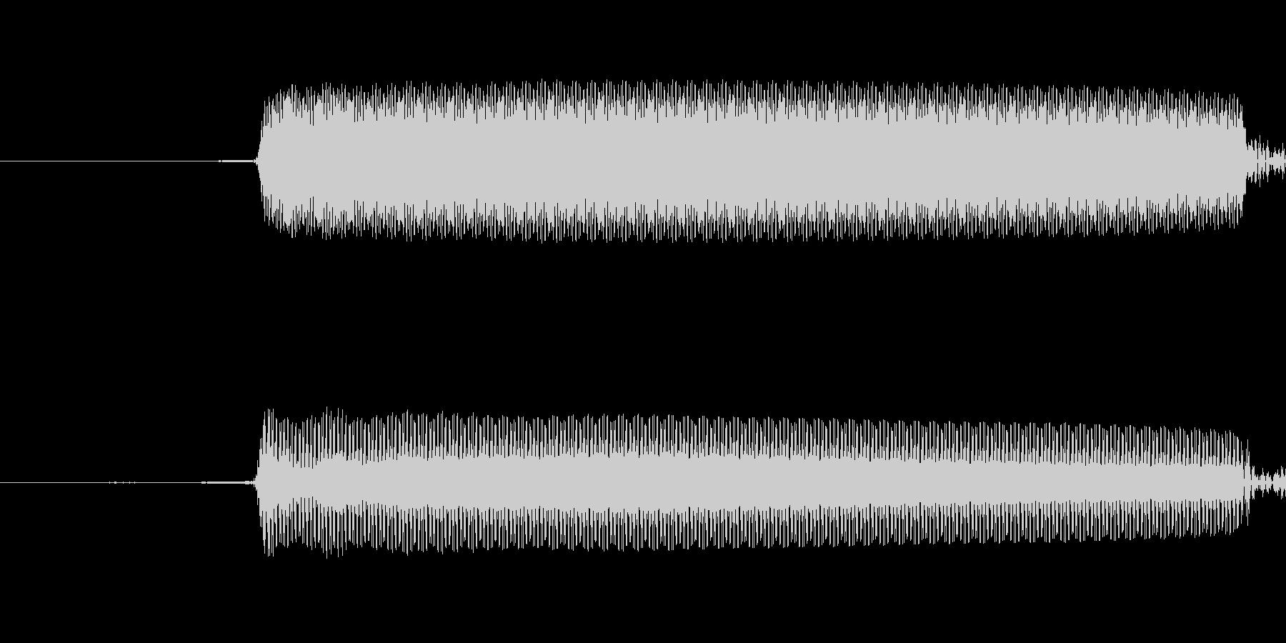 カウントダウンビープシングルの未再生の波形