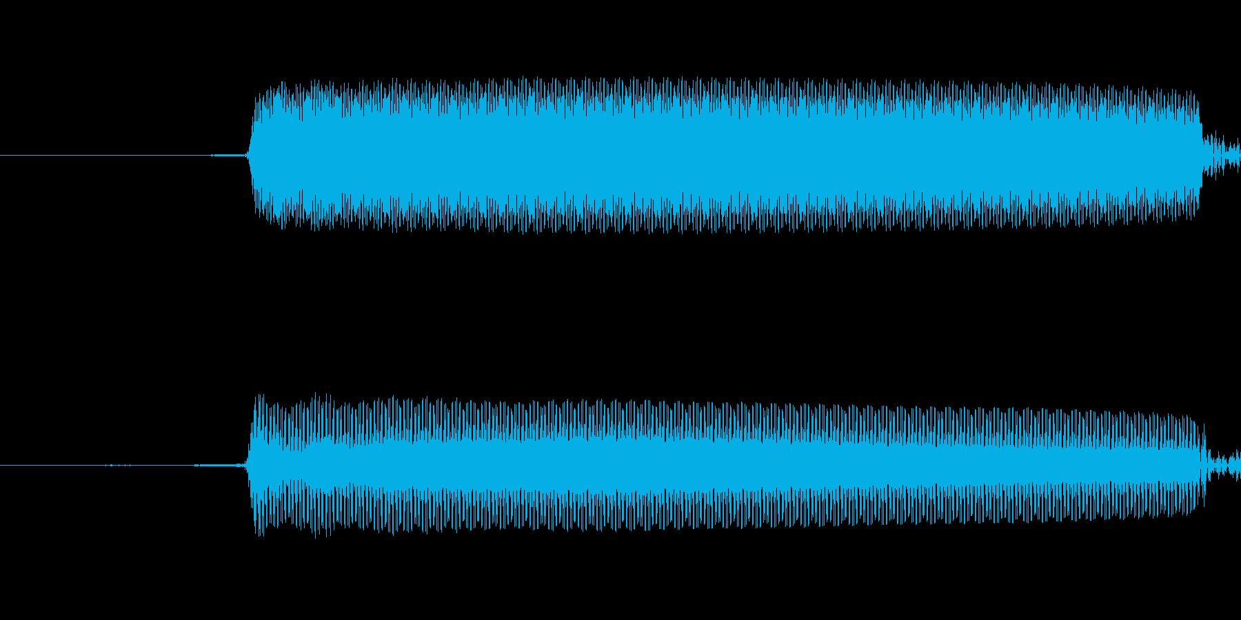カウントダウンビープシングルの再生済みの波形