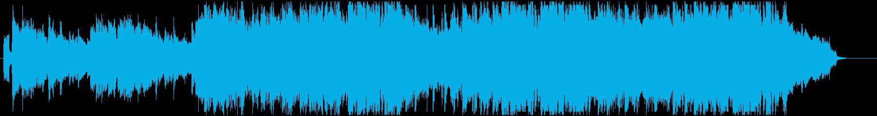 クラプトン風ギターソロに混声コーラスの再生済みの波形