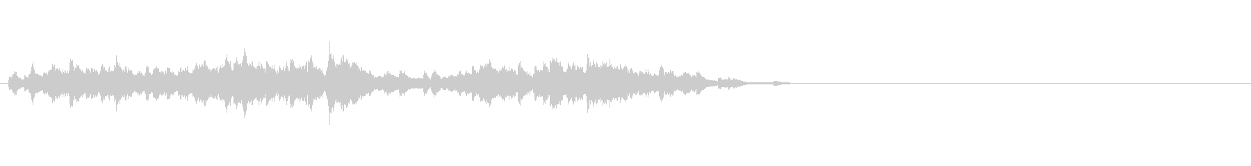 ウィンドチャイムが10秒で上昇(生演奏)の未再生の波形