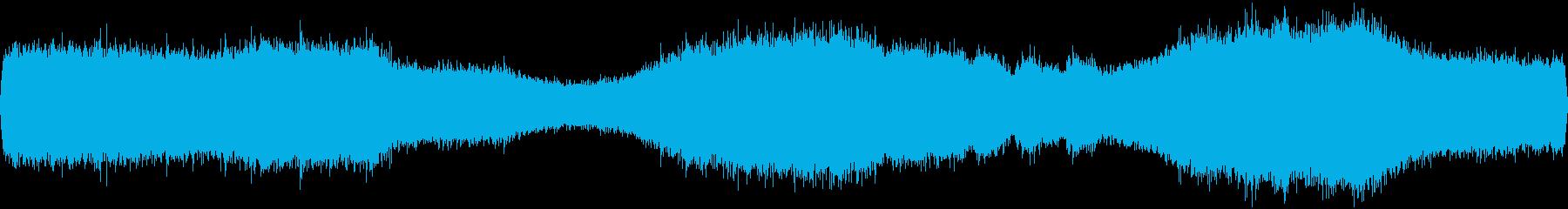セミのフィールドレコーディングですの再生済みの波形