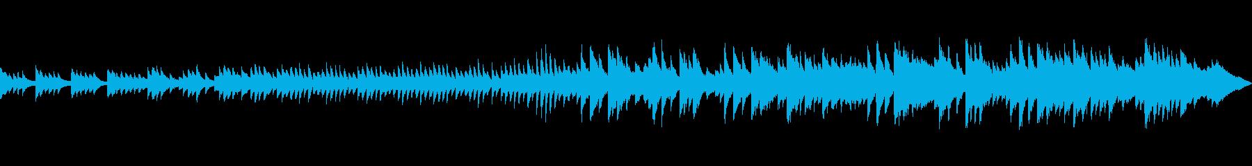 秋、紅葉の景色に合うピアノ曲(ループ版)の再生済みの波形