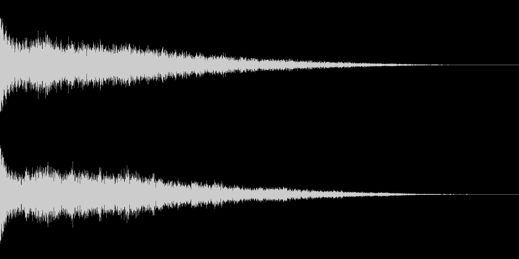 ホラー系アタック音46の未再生の波形