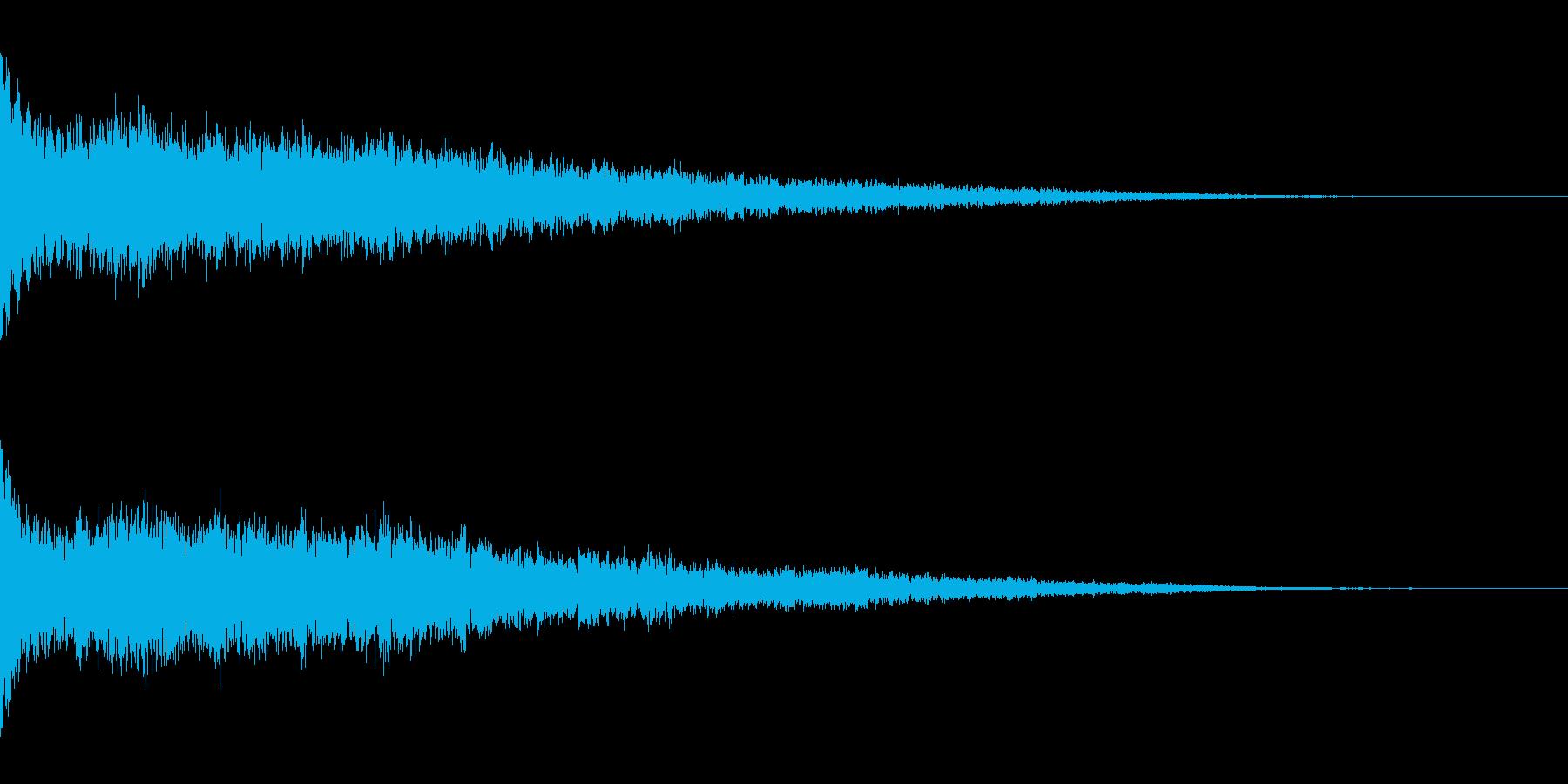ホラー系アタック音46の再生済みの波形