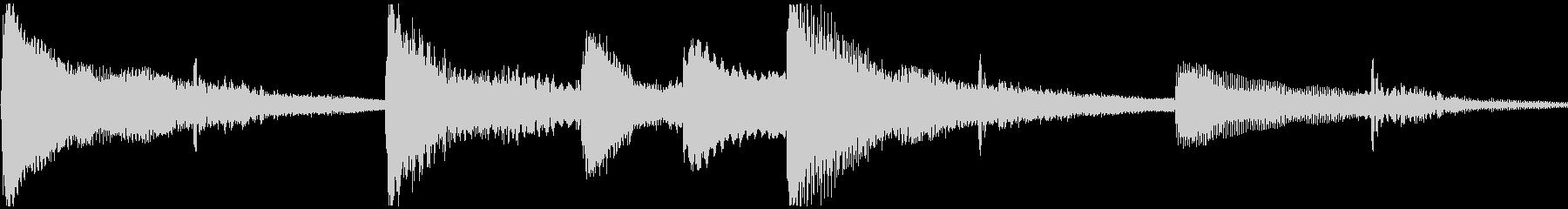 <Loop>ゆったり ピアノ②の未再生の波形