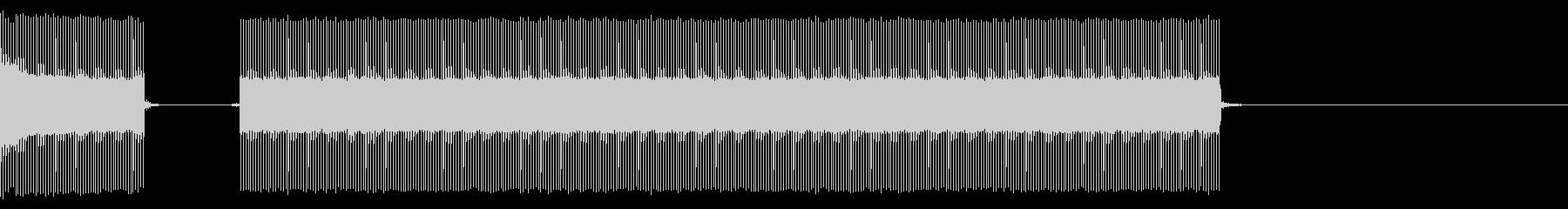 クイズなどのブブーという不正解の音ですの未再生の波形