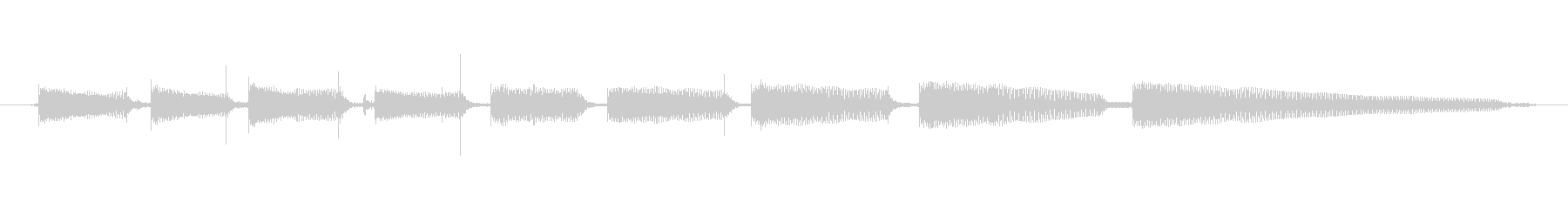 生音エレキギター4弦チューニング1の未再生の波形