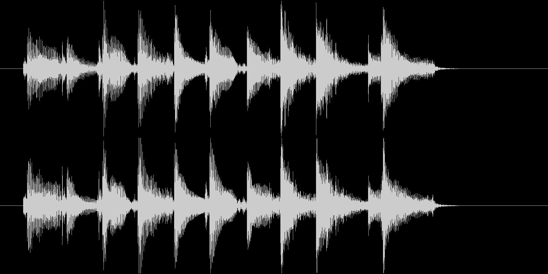 生音 三味線 ショートフレーズ4の未再生の波形