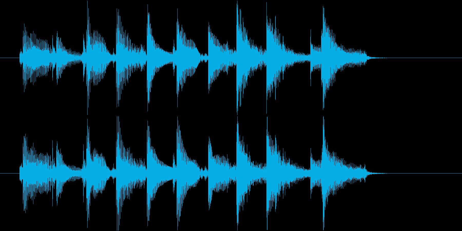 生音 三味線 ショートフレーズ4の再生済みの波形