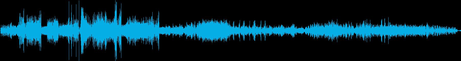オーディオテープ巻き戻しの再生済みの波形