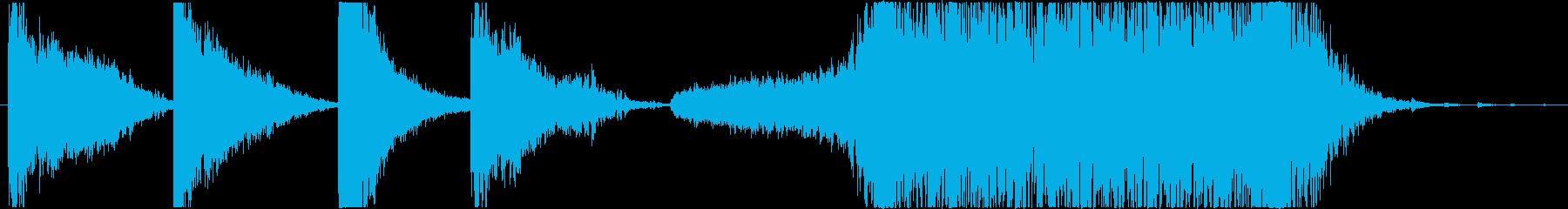 暗い・不気味~打楽器-予告編/トレーラーの再生済みの波形