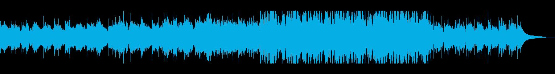 悲しげなシンセピアノテクノバラードの再生済みの波形